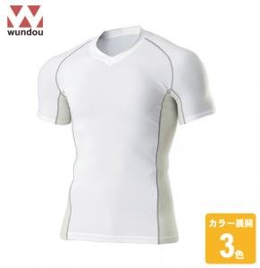 Vネックインナーシャツ半袖