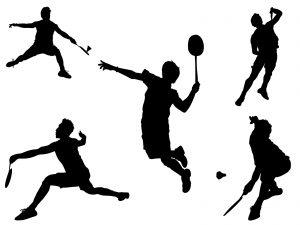 Illustration badminton