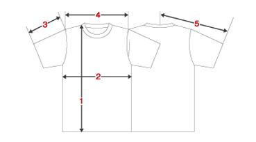 オリジナルTシャツの作成ならお任せあれのRESART(リザート) / サイズ表